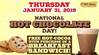 National Hot Chocolate Day - NYC Bagel Franchise